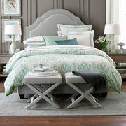 果绿色卧室床单图