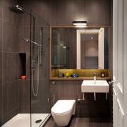 棕色墙面卫生间设计