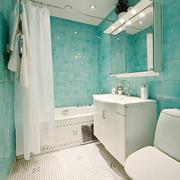 卫生间天蓝色墙面