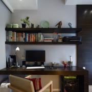 简约纯朴型新中式书房