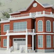 红色房屋设计效果图