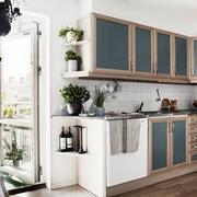 厨房装修中的木质元素效果图