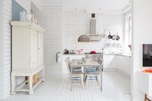 白色简约厨房装修效果图2015图片大全
