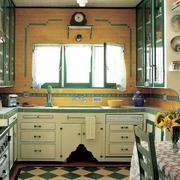 古兰色欧式田园风格厨房