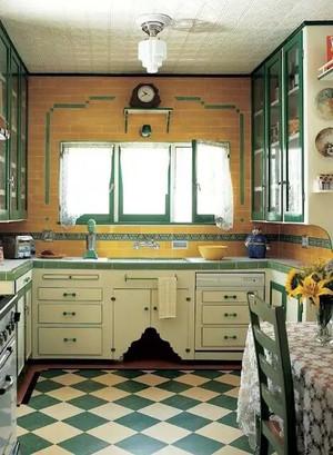欧式田园风格厨房装修效果图