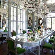 烂漫水晶吊饰餐厅图片