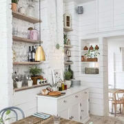 白色简约田园风格厨房装修