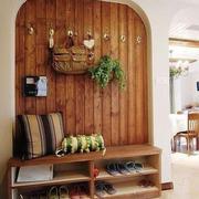 木质玄关鞋柜效果图