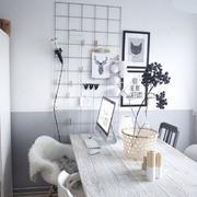 黑白两色书房装饰