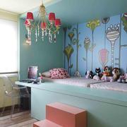 湖蓝色主题儿童房