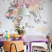 粉色地图背景墙