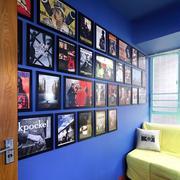 彩色元素照片墙设计