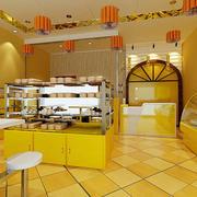黄色靓丽型蛋糕店
