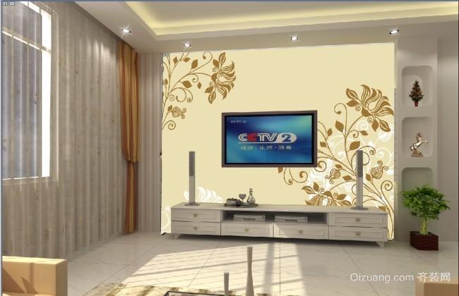 现代简约风格背景墙效果图大全