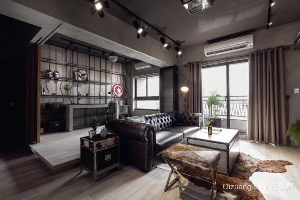 100平大户型单身公寓装修效果图