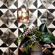 黑白瓷砖背景墙纸