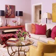 粉色木桌子效果图