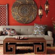 客厅红色墙面