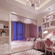 紫红色欧式卧室飘窗