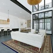 简约型透明式客厅装修效果