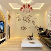 水晶吊饰背景墙