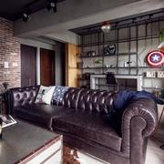 公寓客厅漆皮沙发设计展示