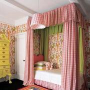 粉色床帘效果图