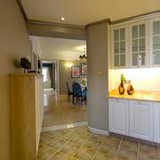 现代化欧式大户型客厅玄关设计