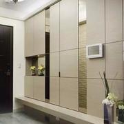 墙面玄关整体衣柜设计