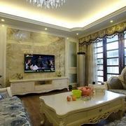 欧美古典客厅隔断设计