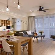 整体式公寓三室两厅样板间
