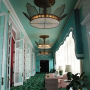 绿色精美客厅窗帘
