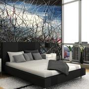 树枝图案沙发背景墙图片