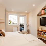 欧式中小型卧室电视墙