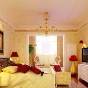 金色墙纸型背景墙