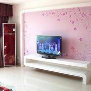 粉色印花背景墙
