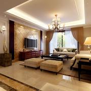 欧式现代新型客厅设计