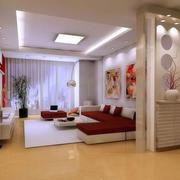 现代感客厅隔断设计