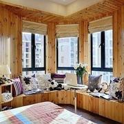 日式整体木屋飘窗设计