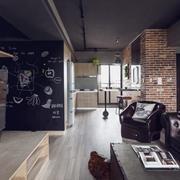 理性派深色系公寓墙面设计