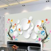 白色碗碟艺术背景墙