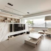 简约型客厅内部实景图