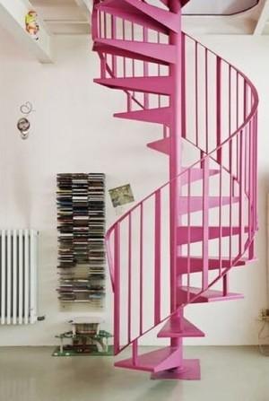 粉色楼梯效果图