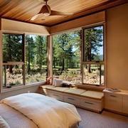 整体别墅木质飘窗设计