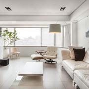 简约型白色漆皮沙发装修效果图