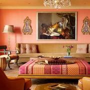 粉色客厅茶几图