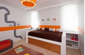 清新式儿童房床位设计
