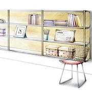 室内整体衣柜手绘图