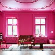 粉色客厅装修效果图