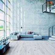 淡蓝色客厅简约饰品布置图
